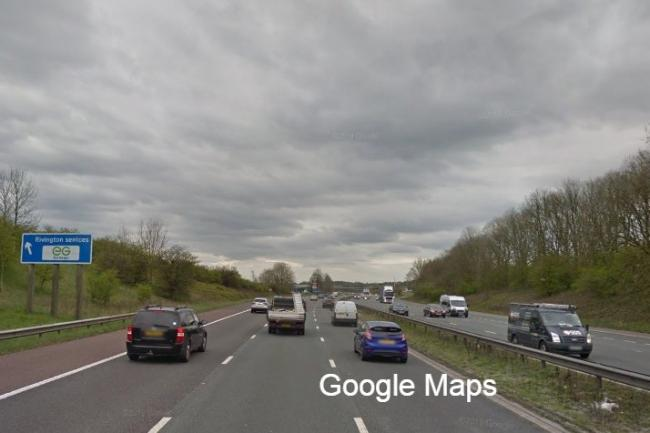 Heavy motorway delays due to jackknifed lorry