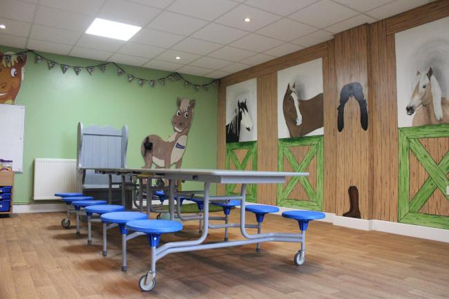 The new activity room at Shores Hey Farm, Burnley