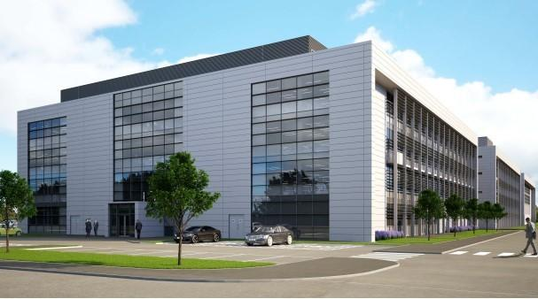 An artist's impression of the new BAE office complex at Samlesbury