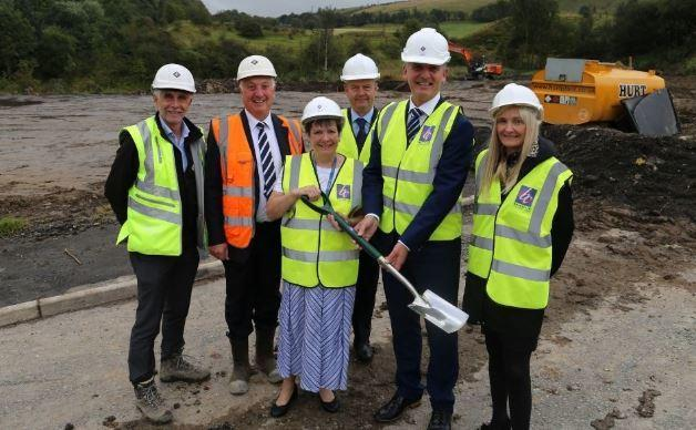 Councillor Jackie Oakes at the site
