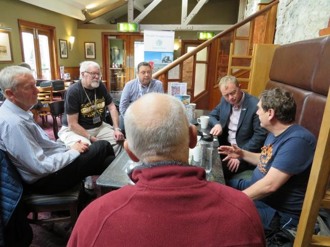 MP Tim Farron at the Bay Prostate Cancer Support Group meeting in Kendal