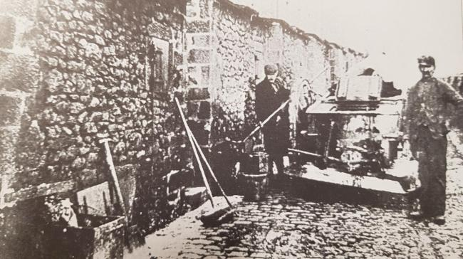 A cleaning team in Colne, taken around 1900