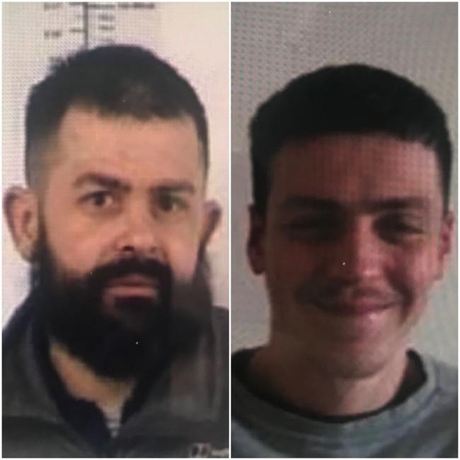 Mike Price, 39, and Reece Baker, 23 wanted after absconding from prison