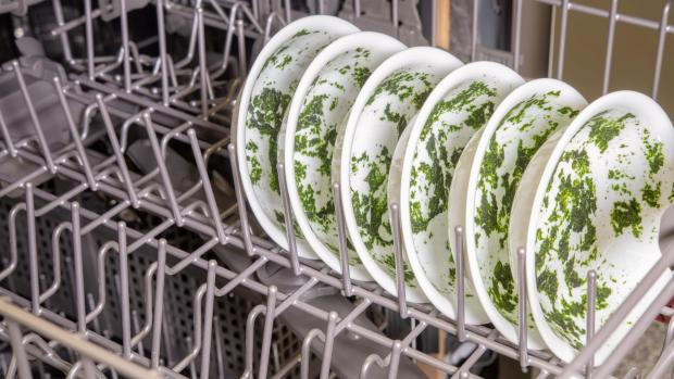Lancaster And Morecambe Citizen: It's hard for your dishwasher to remove dried-on food—and spinach is the worst. If you can't run a full normal cycle right away, at least start a rinse cycle. Credit: Reviewed / Jonathan Chan