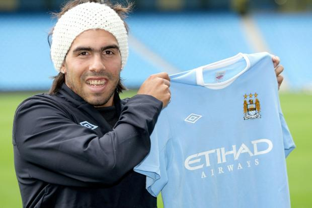 Carlos Tevez moved to Manchester City from neighbours Manchester United in 2009