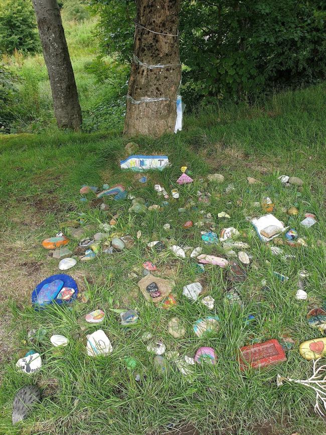 Huncoat's rock garden which was created by the children of the village has been destroyed