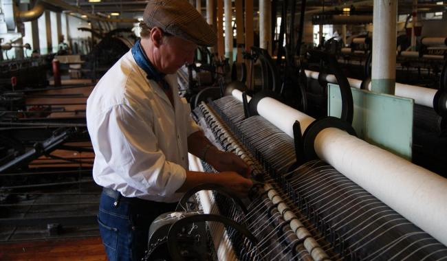 Helmshore Textile Museum allows visitors to see 19th machinery at work.