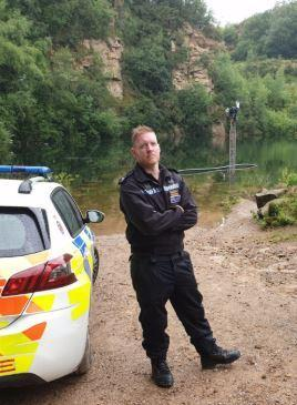 Sgt Harrison from Chorley Police at Hill Top Quarry