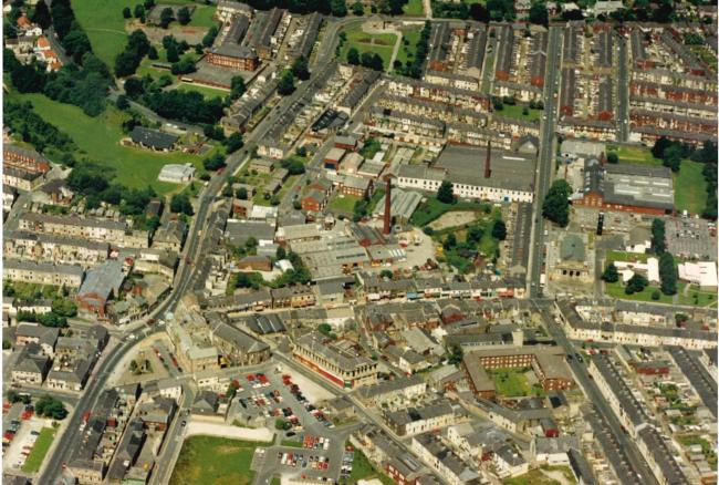 Great Harwood from the air, 1996
