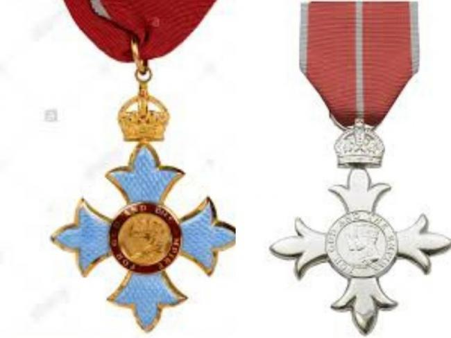 British Empire Medal and an MBE medal