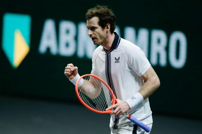 Andy Murray will face Andrey Rublev in Rotterdam on Wednesday