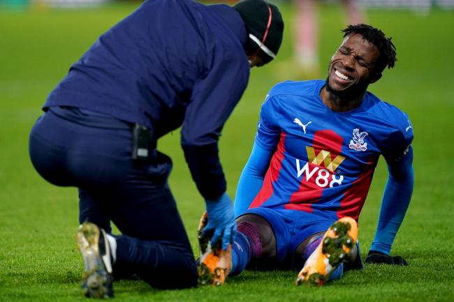 Wilfried Zaha has missed the last month for Crystal Palace with a hamstring injury