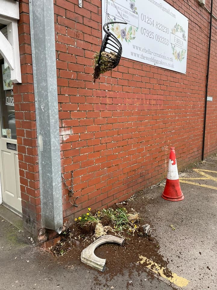 Hanging baskets outside the Spar in Whalley were smashed, and a group of teens had lit a fire in the pagoda at Whalley Cricket Club