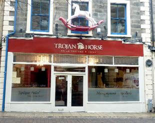 Lancaster And Morecambe Citizen: GRECIAN GIFT: Lancaster's new Greek restaurant, Trojan Horse, in New Street