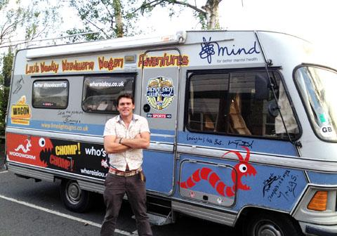 Lancaster And Morecambe Citizen: Lou Vincent toured the UK by bus for charity in 2012