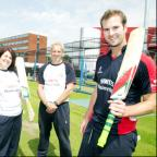 Lancaster And Morecambe Citizen: Steve Croft, Naomi Aspin, Peter Moores and Tom Smith at Lancashire's Old Trafford headquarters