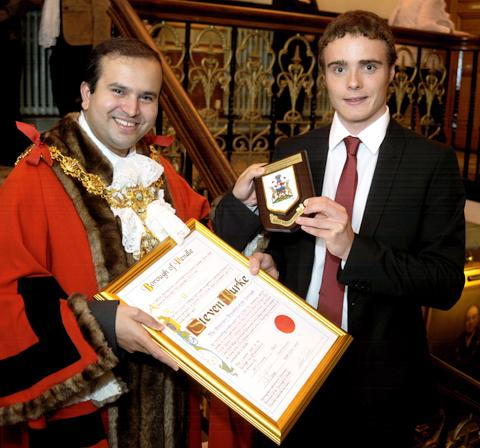 Lancaster And Morecambe Citizen: Steven Burke becomes a freeman of Pendle