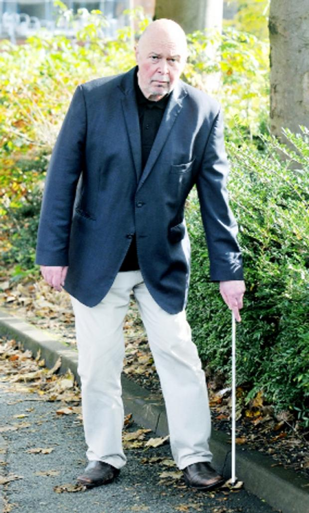 Lancaster And Morecambe Citizen: STUNNED Blind Colin Farmer was thrown to the ground by the force of the Taser