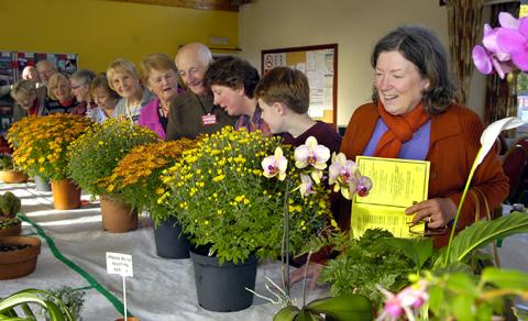 Green-fingered residents gather for the 65th annual autumn show