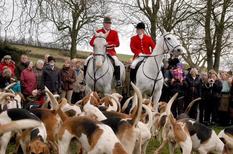 Boxing Day hunt attracts crowds to Tewitfield, Carnforth