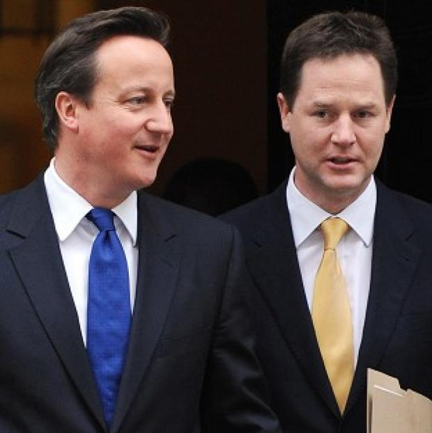Lancaster And Morecambe Citizen: David Cameron and Nick Clegg say their coalition government is 'steadfast and united'