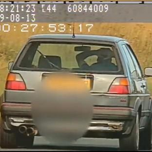Lancaster And Morecambe Citizen: Video still issued by North Yorkshire Police showing Richard Newton, 36, driving at 60mp