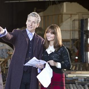 Lancaster And Morecambe Citizen: Actor Peter Capaldi admitted feeling nervous as he started work as the new Doctor Who with co-star Jenna Coleman