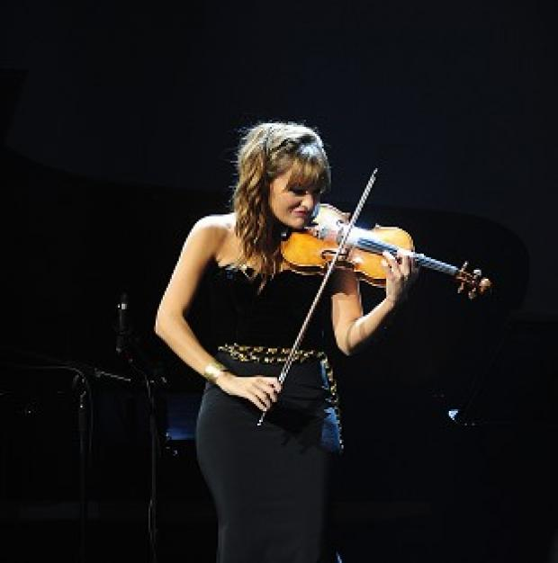 Lancaster And Morecambe Citizen: Nicola Benedetti performs at the Classic Brit Awards 2013.
