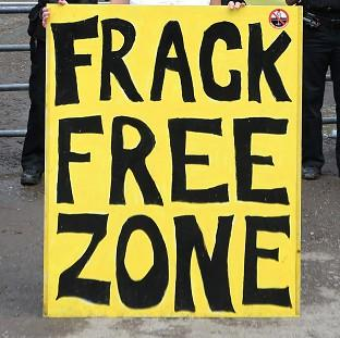 Lancaster And Morecambe Citizen: An anti-fracking protest has been held on the outskirts of Salford