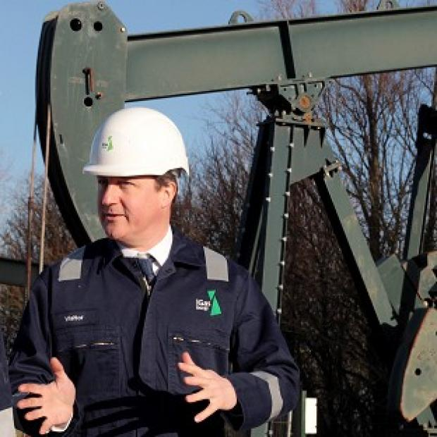 Lancaster And Morecambe Citizen: Prime Minister David Cameron visited the IGas shale drilling plant oil depot near Gainsborough, Lincolnshire, on Monday