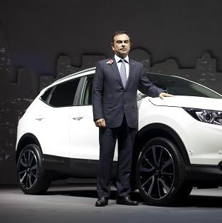 Lancaster And Morecambe Citizen: Carlos Ghosn, CEO of Nissan, at the launch of Nissan's new Qashqai model