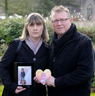 Lancaster And Morecambe Citizen: Steve and Yolanda Turner with a picture of their son Sean