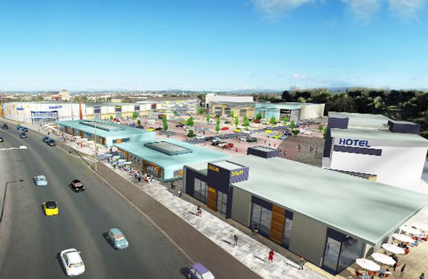 Lancaster And Morecambe Citizen: n artist's impression of the proposed retail and leisure park on Morecambe's front