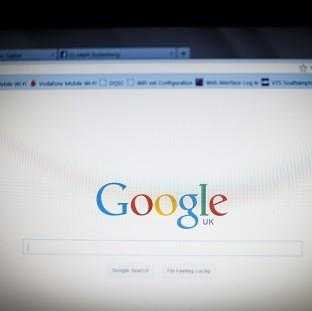 Lancaster And Morecambe Citizen: File photo dated 10/12/13 of the Google logo as seen by millions of users worldwide on a laptop screen as a British technology company has been bought by Google as the search giant looks to self-driving