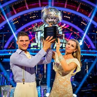 Lancaster And Morecambe Citizen: Abbey Clancy with her dance partner Aljaz Skorjanec after they were crowned Strictly Come Dancing champions.