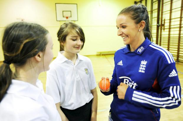 Lancaster And Morecambe Citizen: England and Lancashire star Kate Cross works hard off the field to develop women's cricket