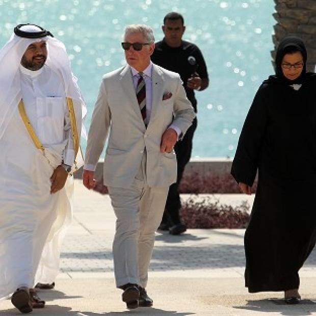 Lancaster And Morecambe Citizen: The Prince of Wales in Doha, Qatar (AP)