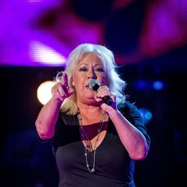 Lancaster And Morecambe Citizen: Teresa Vasiliou sang a song she had written for her music idol and the Voice judge Sir Tom Jones (BBC/PA)