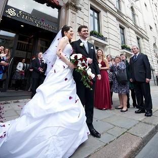 Lancaster And Morecambe Citizen: Louisa Hodkin and Alessandro Calcioli have become the first couple in Britain to tie the knot at the Church of Scientology