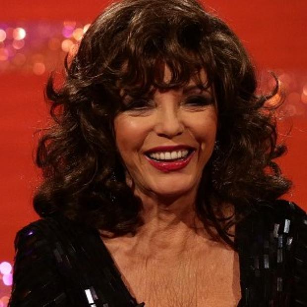 Lancaster And Morecambe Citizen: Joan Collins said it takes her half an hour to put on 'a full face with lashes'