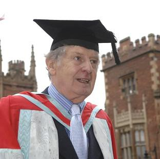 "Lancaster And Morecambe Citizen: Actor James ""Jimmy"" Ellis, who has died aged 82,  received an honorary degree from Queen's University in Belfast"