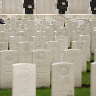 Lancaster And Morecambe Citizen: Twenty soldiers were laid to rest at a service at the Commonwealth War Graves Commission Cemetery at Loos-en-Gohelle near Lens