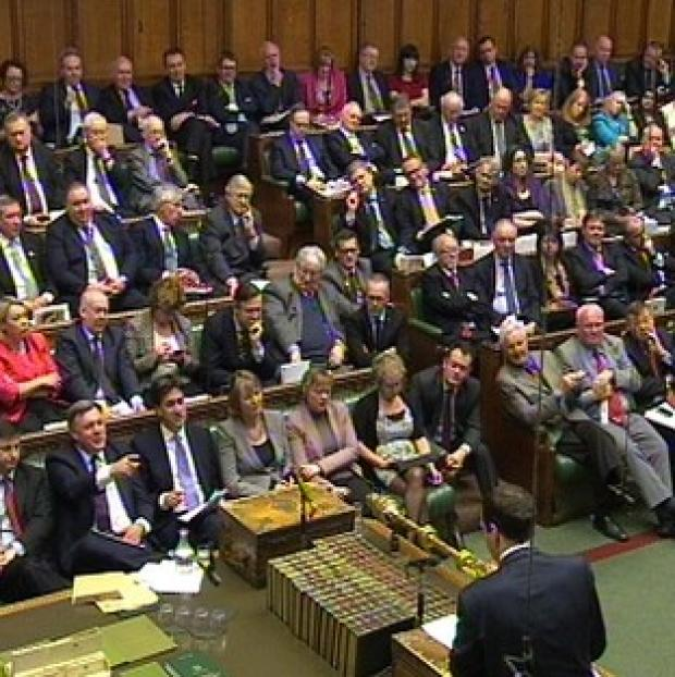 Lancaster And Morecambe Citizen: Chancellor George Osborne delivers his Budget statement to the Commons