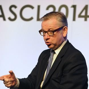 Lancaster And Morecambe Citizen: Education Secretary Michael Gove answers questions during the ASCL Annual Conference