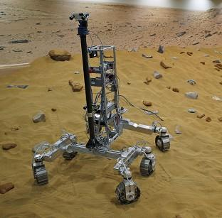 Lancaster And Morecambe Citizen: A robotic vehicle on the Mars Yard test area