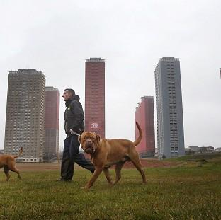 Lancaster And Morecambe Citizen: The Red Road flats in Glasgow will be demolished live during the opening ceremony of the Commonwealth Games