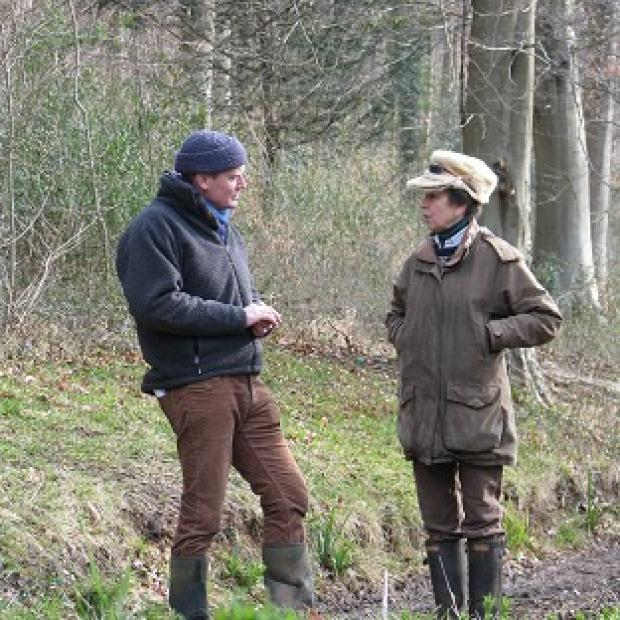 Lancaster And Morecambe Citizen: Tom Heap interviewing Princess Royal for BBC's Countryfile.