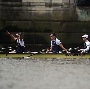 Lancaster And Morecambe Citizen: Oxford's crew celebrate winning the BNY Mellon Boat Race against Cambridge