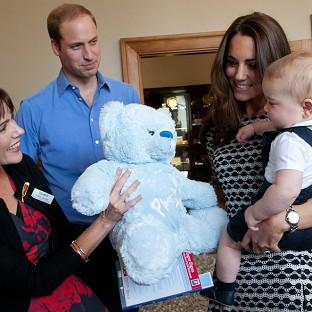 Lancaster And Morecambe Citizen: The Duke and Duchess of Cambridge and Prince George visit Plunket, a child welfare group at Government House, Wellington