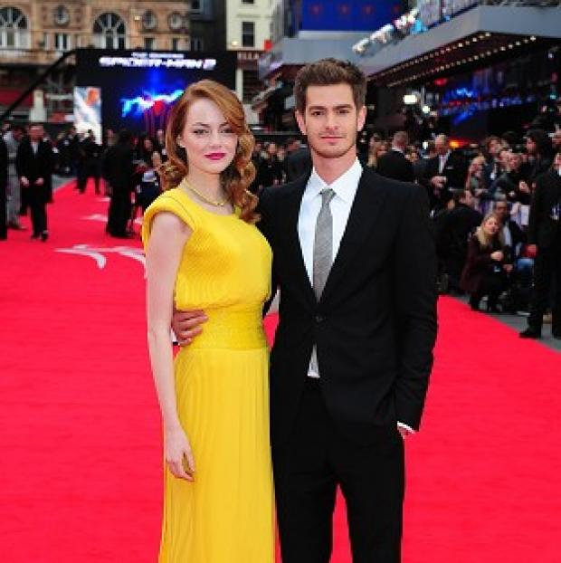 Lancaster And Morecambe Citizen: Emma Stone and Andrew Garfield arriving for the world premiere of The Amazing Spider-Man 2